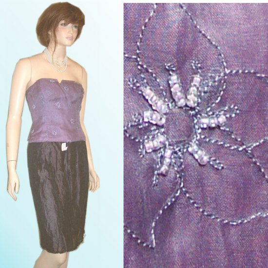 Corset Bustier wBeads, Embroidery by Nicole Miller size 4 * $35.99 - Retail $255
