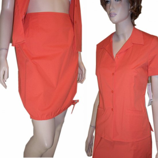 & TROUSERS * Balloon Skirt in Stretch Cotton * Tangerine * YOUR PRICE $9.99 * Retail $104 * sz 6