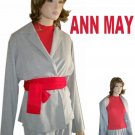 Lite Gray Kimono Cover Jacket by ANN MAY * YOUR PRICE $22.99 * sz M * retail $245