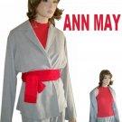 Lite Gray Kimono Cover Jacket by ANN MAY * YOUR PRICE $22.99 * sz M * retail $245