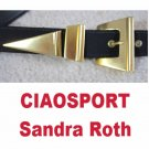 Designer Belt * CIAOSPORT by Sandra Roth * Black wBold Brass * small