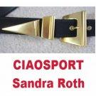 Designer Belt * CIAOSPORT by Sandra Roth * Black wBold Brass * small