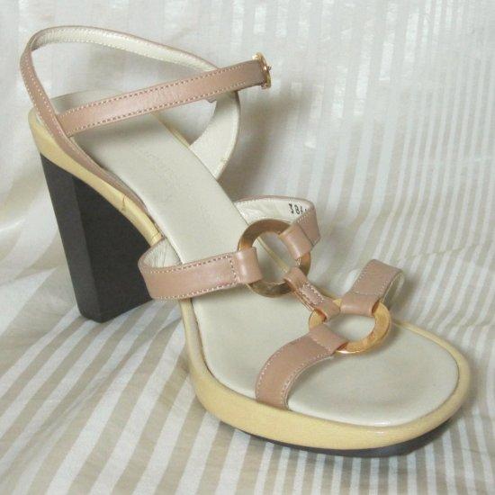 Manufacture D'Essai Italian Gladiator Sandals Heels - sz 7 * YOUR PRICE $19.99 - retail $138