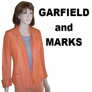 sz 8 GARFIEND & MARKS Jacket - Tangerine - YOUR PRICE $39.99 - Retail $346