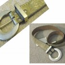 Leather Designer Belt - Sz M by Simon - Gold w/Cream - YOUR PRICE $24 - Retail $77.75