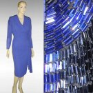 "sz 6 - ""Dynasty"" style '70s Beaded Dress - UNWORN - Your price $49.99"