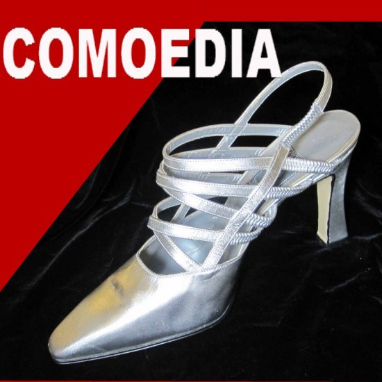 sz 8 - COMOEDIA Italian Couture Pumps - Silver - MSRP $395 - YOUR PRICE $59.99