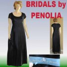 sz S UNWORN Vintage Velvet Gown * Bridals by Penolia * Dark Gray