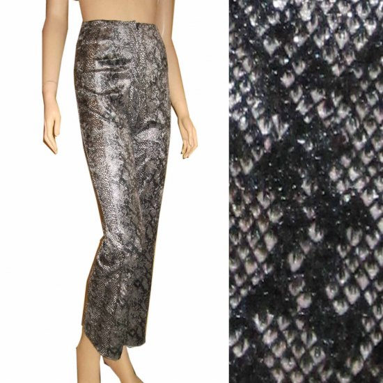 Python Pants * sz 2 Retail $156 by Trio New York * Wet Look