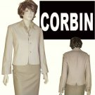 CORBIN COLLECTION Beige Blazer MSRP $305 - size 12