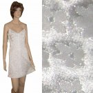 "BROCADE ""Lolita"" MiniDRESS wCrystal Straps 4 by AFTER FIVE Cream"
