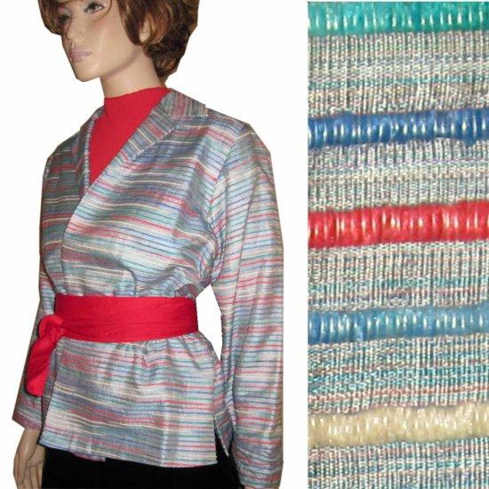 "ANN MAY Unique Multi-Tonal Silk ""judo"" Blazer MSRP $355 - sz S"