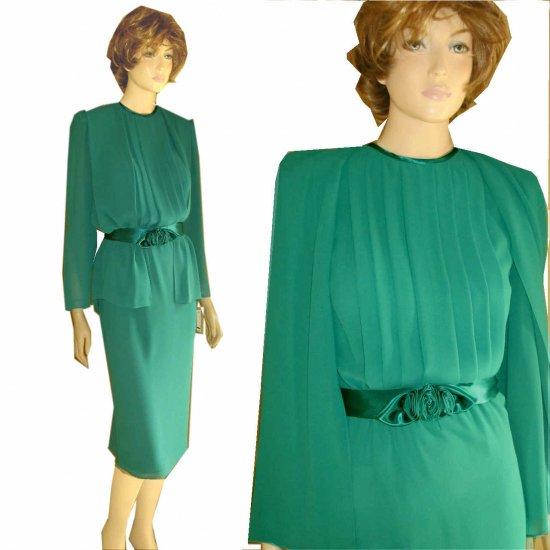 '80s Georgette Evening Dress - UNWORN by JoHanna York - sz 10