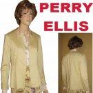 PERRY ELLIS Muted Yellow Blazer - RETAIL $168 - sz 8 Stretch Cotton