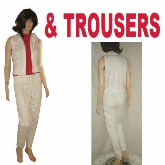 TROUSERS by Morrissey - Pants & Blouse-Vest - Retail $260 - sz 4 - white