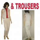 TROUSERS by Morrissey - Pants & Blouse-Vest - Retail $260 - sz 4 - white
