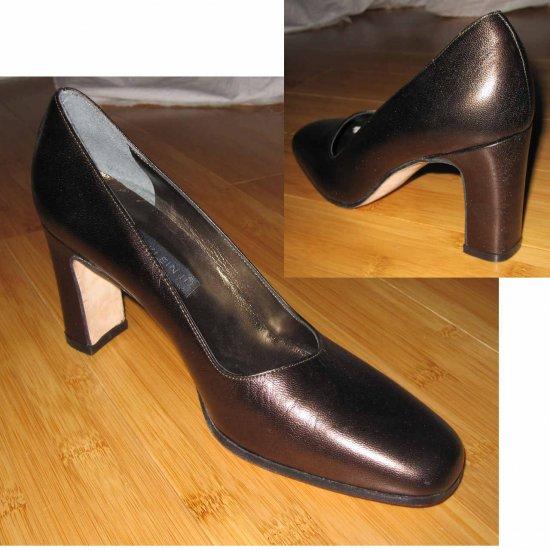 """ANNE KLEIN Rich Dark Bronze Pumps - 3"""" heel - Retail $145 - sz 6.5N"""