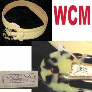 WCM New York - Belt wFaux Tortoise Buckle - Retail $62 - waist 25-29