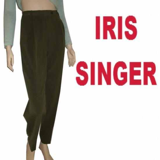 IRIS SINGER Collection - Loden Khaki Executive Pants * Retail $194 - size 4