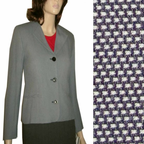 OLSEN COLLECTION Germany Tweedy Gray Blazer - Retail $320 - sz 4 - Your Price $44.99