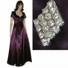 '70s Satin Formal Designer Gown - UNWORN wTags - Burgundy - sz S-M