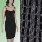 Wool Sweater Dress - Black - Beaded by Chetta B - sz large - Retail $225