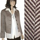 sz 4 Wool-Silk Crop Tweed Blazer by August Silk - Your Price $24.99 MSRP $199