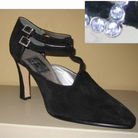 Handmade Italian Pumps by Comoedia Retail $485 - Black Suede - size 10M