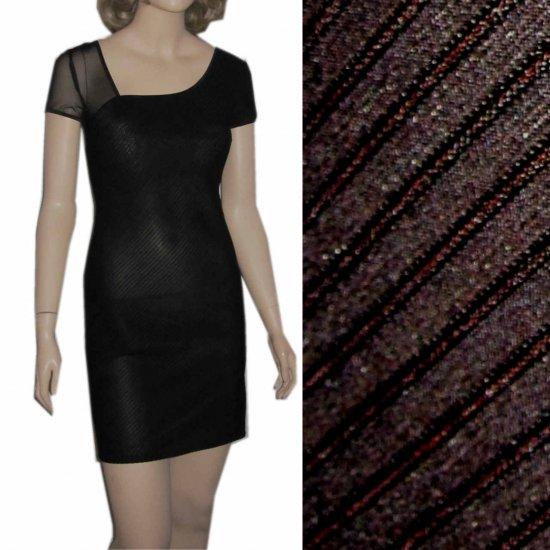 sz 6 - Curve-hugging Spandex Cocktail Dress - black by Bibbo $29.99 - MSRP $212