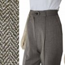 sz 4 - JON TAGIA Herringbone Tweed Wool Pants $45.99 - MSRP $319