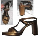 sz 8 RUGGERI Italian Burlesque Bronze Stratospheric Pumps $29.99