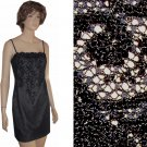 sz 6 KATHLIN ARGIRO Black Lace Overlay Slip Dress $49.99 - List Price $380