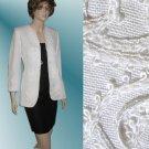 sz 4 CHEETA B - Black/white linen dress suit $69.99 - List Price $425