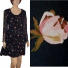 sz 8 MARIELLA BURANI Silk Chiffon Layered Dress - Roses - $129.99 - List PRice $620