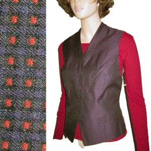 ELLEN TRACY - LINDA ALLARD Silk Blend Tuxedo Vest - 4P $24.99 - Retail $205
