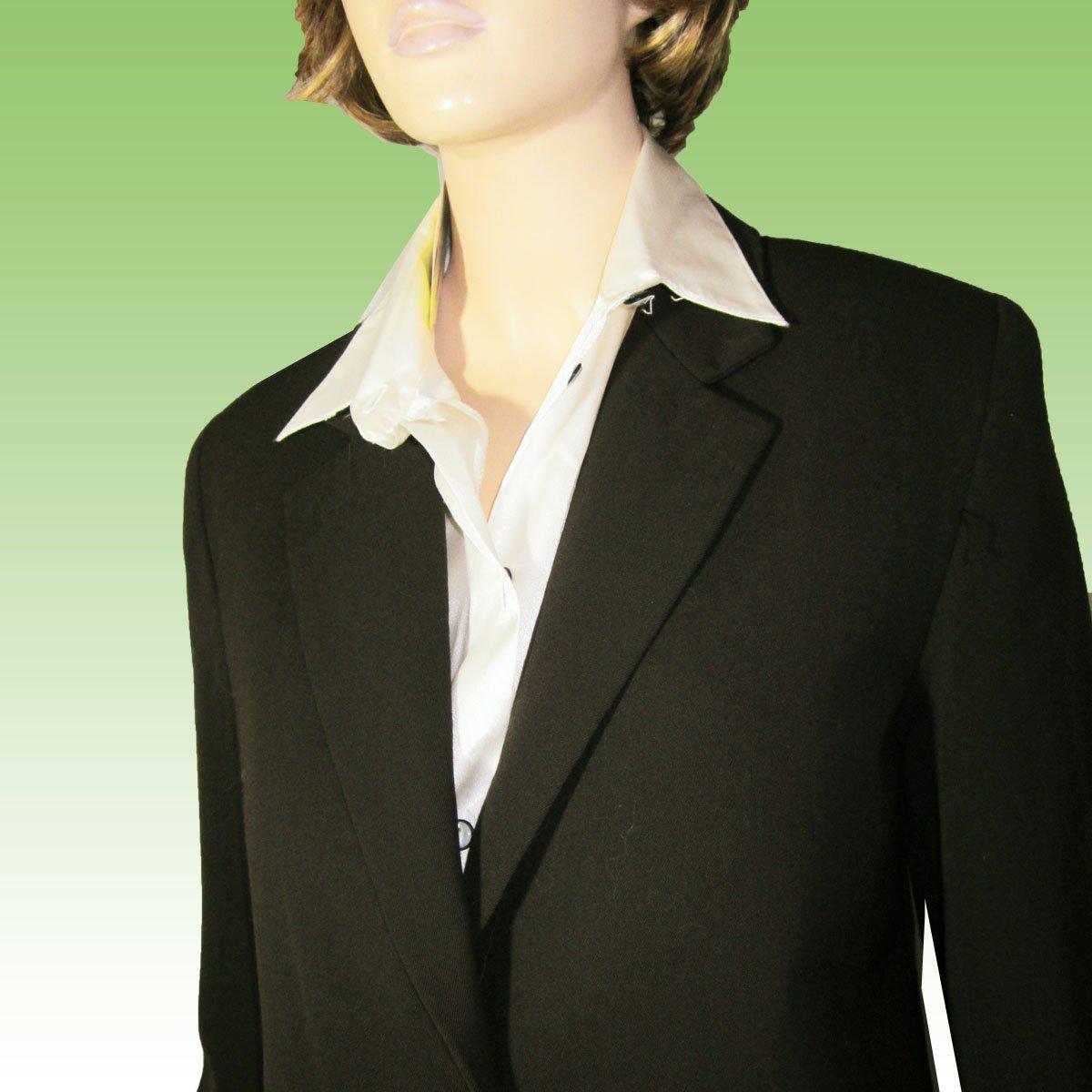 Executive BLAZER-JACKET 100% Wool Chocolate Brown by Elliott Lauren - size 6 $29.99 - Retail $178