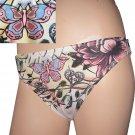 """New VICTORIA'S SECRET """"Lucky Brand"""" Bikini Bottoms BUTTERFLIES &  HEARTS small"""