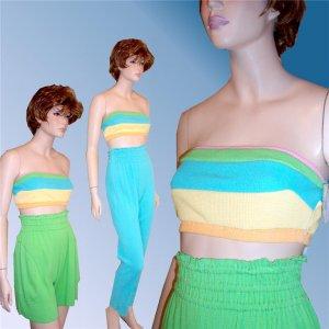 MAUREEN KEENE Designer 3-Piece Short/Pants/Top Set sz 2 $29.99 - Retail $300
