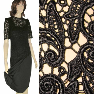 Layered Lace Overlay Evening Dress by Cattiva - $79.99 - Retail $522 - black - sz 8