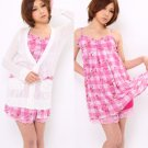 MA*RS / MARS (Gyaru Style) Floral Check Dress x Cardigan Set