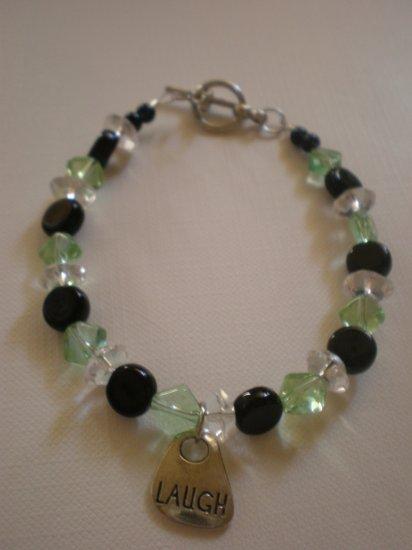 black green and crystal laugh bracelet