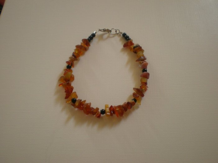 red and brown stone bracelet