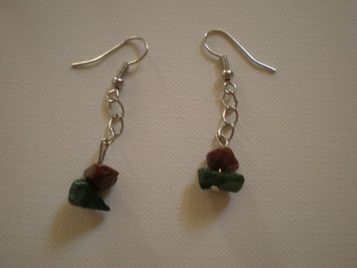 blue and brown stone earings