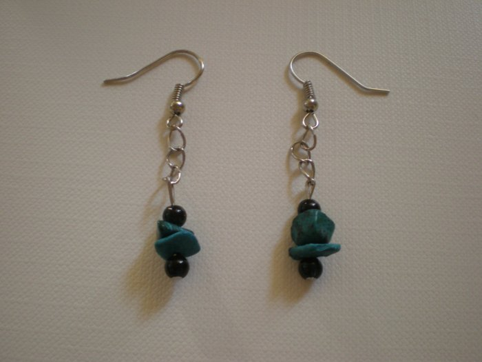 blue stone earings
