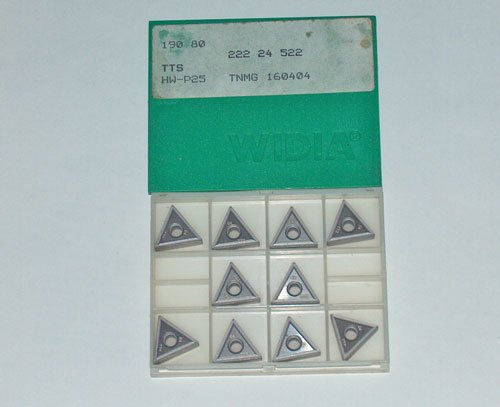 10 Pieces WIDIA CARBIDE INSERTS TNMG 160404 HW-P25