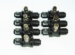 Set Of 7 Piece Legris In Line Air Flow Regulator P/N: 7770_06_00