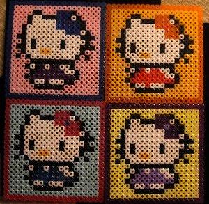 Hello Kitty Perler Coasters (set of 4)