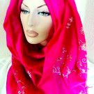 Floral Crush Full Body Pashmina Hijab - Magenta