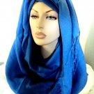 Full Body Pashmina Hijab - Cobalt