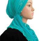 Sparkle HijabiCap Premade Hijab- Aqua